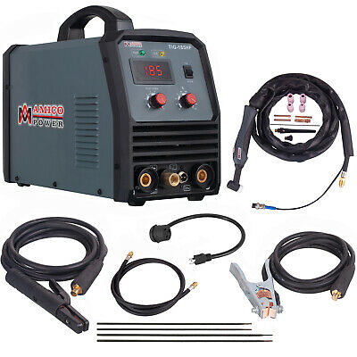 TIG-185, 180 Amp HF-TIG Torch, Stick Arc DC Welder 115/230V Dual Voltage Welding