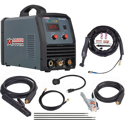 TIG-205, 200 Amp HF-TIG Torch, Stick Arc DC Welder 115/230V Dual Voltage Welding