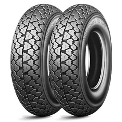 Pair Tires Tyres MICHELIN 350-10 S83 VESPA 125 PX 150 200 3.50.10