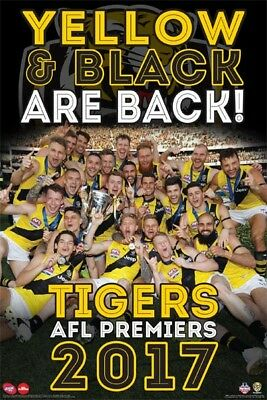 AFL 2017 Premiers Richmond Tigers POSTER 61x91cm NEW Yellow & Black Are Back!