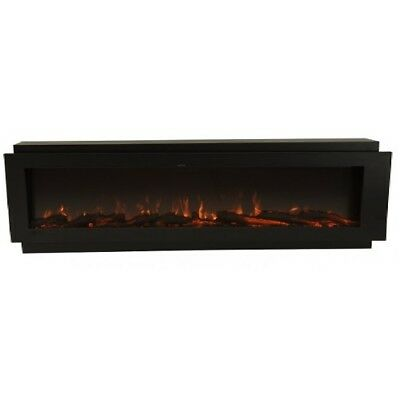 60 Inch Built-In Flush Install Multi-Color (LED) Electric Fireplace FH-60BIF-CLR