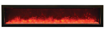 72 Inch Built-In Flush Install Multi-Color (LED) Electric Fireplace FH-72BIF-CLR