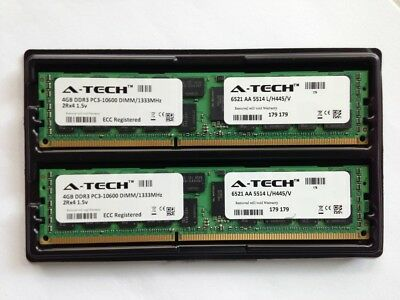 8GB RAM kit 2 x 4GB PC3-10600 DDR3 1333 Mhz ECC REGISTERED Apple Mac PRO (DIMM)