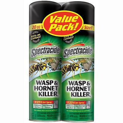 2 x 565G cans Wasp Killer Sprays 8 meters Instantly kills insect/nest no defence