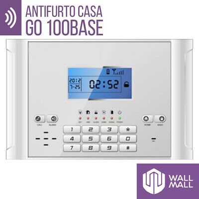 Kit Antifurto Casa Allarme Touch Screen Combinatore Gsm Wireless Go100Base