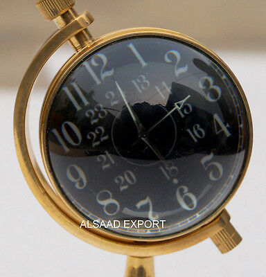 Antique Brass Vintage Table Decore Watch Desktop Nautical Clock Maritime Gift