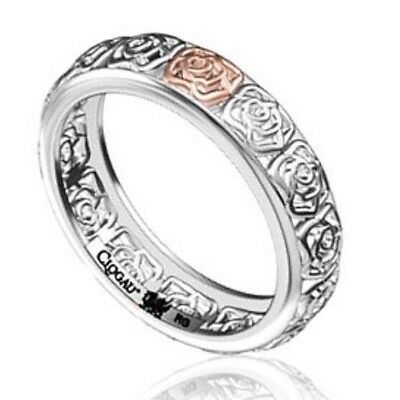 NEW Genuine Clogau Silver & 9ct gold Royal Rose ring 3SRRSR/N Size N  £99