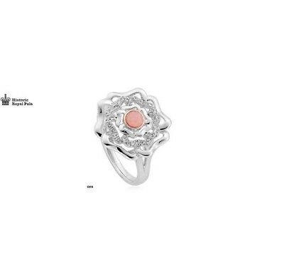 New Genuine Clogau Silver Tudor Rose with Pink Opal set Ring 3STRSR Size P £129