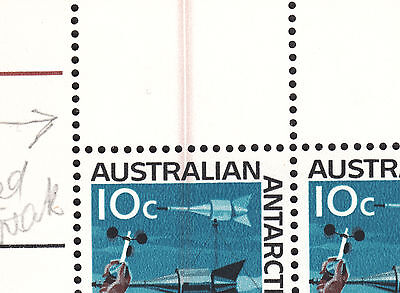 AAT 1966 10c Definitive with Doctor Blade Flaw Block of 4 MNH