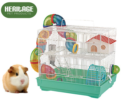 Heritage Lilac Rabbit 100cm Large Indoor Cage Kit Guinea Pig Rodent Hutch Home