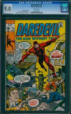 Daredevil # 74  The Whole City's Gone Blind !  CGC 9.0 scarce book !