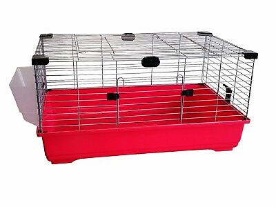 Heritage Red Rabbit 80cm Large Indoor Cage Kit Guinea Pig Rodent Hutch Home