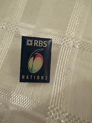 RBS 6 nations rugby lapel pin Ireland England Scotland Wales France Italy