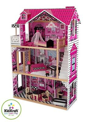 """Amelia Dollhouse by Kidkraft ideal for 12"""" dolls (such as Barbie's)"""