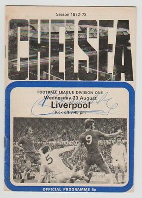 Chelsea V Liverpool 1972-1973 Programme Rare Hand Signed By Legend Bill Shankly