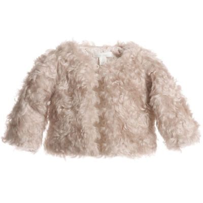 Marie Chantal Baby Steiff Beige Fur Coat Large 24 Months