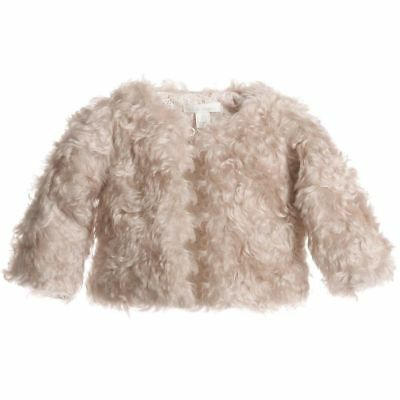 Marie Chantal Baby Steiff Beige Fur Coat Small 6-12 Months