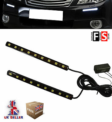Drl Led Daytime Running Lights Pair 9 Led Lamps Waterproof  Vow3