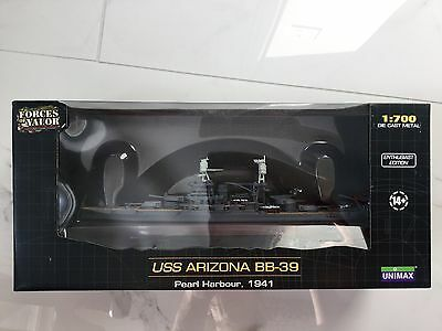 Forces Of Valor  /  Unimax 1/700 Uss Arizona Bb-39 Pearl Harbour 1941 # 86013 Fs