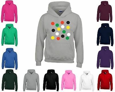 Kids Hoodie Funny Coloured Graphic Jumper Boys Girls Present Gift Long Sleeves