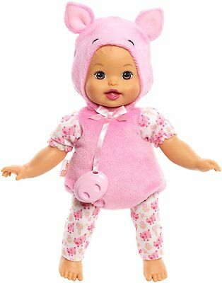 Little Mommy Dress Up Cuties Pig Doll Newborn Dolls Girl Baby Toy Pink ribbon US