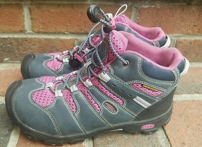 Keen Youth Girls Koven Mid Waterproof Boot Midnight Navy/Dahlia Mauve Size 3