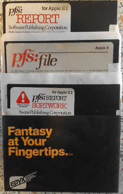 Apple II software Personal Filing System  (PFS Serie)
