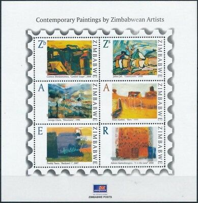 Zimbabwe Stamp Paintings block MNH 2009 Mi 26 WS244983