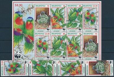Tonga stamp WWF: Blue-crowned lorikeet + mini sheet 1998 MNH WS244661