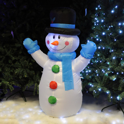 1.2M Christmas Inflatable Snowman Xmas Decoration Outdoor Garden Lights