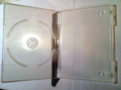 6x cases - Clear 14mm DVD Case's for 1 Disc dvd's NEW with clear cover sleeve