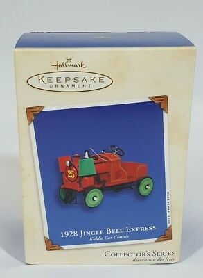 2002 Hallmark Ornament NIB ~ 1928 Jingle Bell Express, Kiddie Car Classics