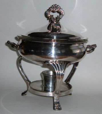 F. B. Rogers Silver Plated Chafing Dish with Pyrex Insert