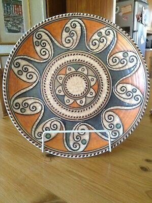 Charlotte Rhead Crown Ducal 'Arabian Scroll' Wall Plaque Or Charger