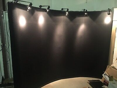 "Skyline Mirage Classic 10' X 92"" Pop-up Trade Show Curved Display With 5 Lights"