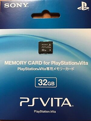 OFFICIAL SONY PS Vita PLAYSTATION PSV Memory Card 32GB Brand NEW Japan Import
