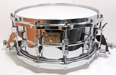 SONOR 1980s HLD-582 Signature Fellow Manganese Steel Snare Drum 6.5X14  EMS F/S