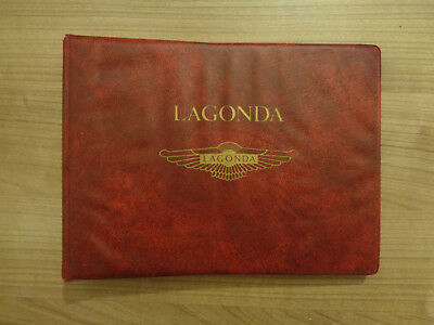 Lagonda Owners Handbook/Manual