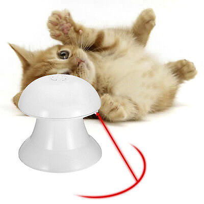 Automatic Rotating Cat Dart Laser Pointer Light Dog Pet Toy Teaser Interactive