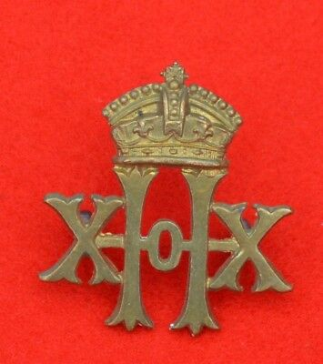 British Army. 20th Hussars Genuine Victorian OR's Collar Badge