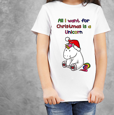 All I want for Christmas is a Unicorn T-Shirt Alternative Jumper
