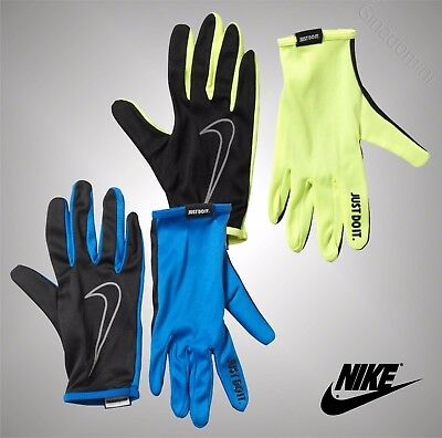 Mens Genuine Nike Reflective Print Sports Lightweight Running Gloves Size S-XXL