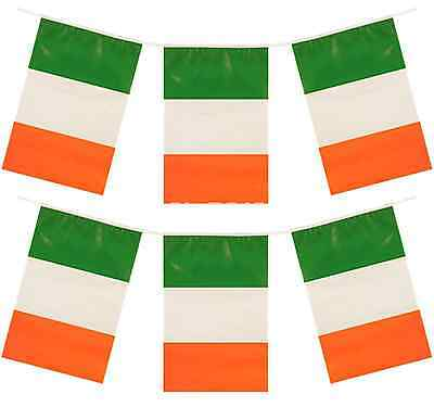 120ft Bunting 10 x 12ft Irish St Patricks Day Flag Party Decoration Ireland QR36