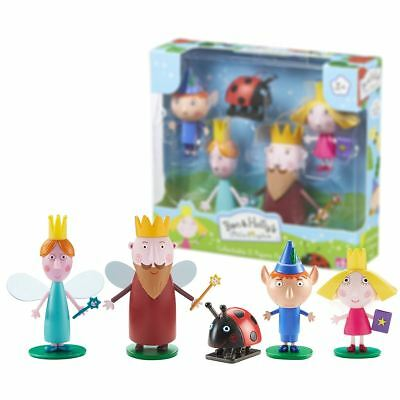 New Ben & Holly's Little Kingdom 5 Figure Pack Gaston King Queen Official