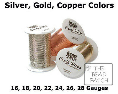 BeadSmith Tarnish Resistant Craft Wire - 3 Colors - 7 Gauges -  Jewelry, Crafts
