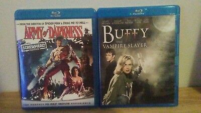 Army Of Darkness And Buffy The Vampire Slayer (Blu-ray's).