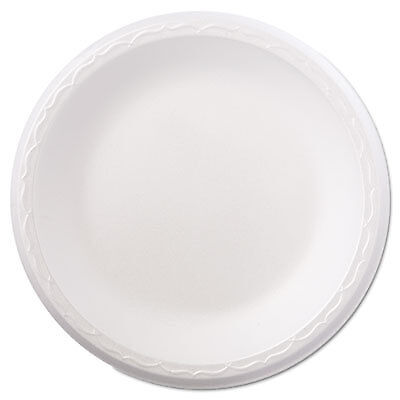 "Foam Dinnerware, Plate, 8 7/8"" dia, White, 125/Pack, 4 Packs/Carton 80900"