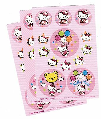 SANRIO Hello Kitty Stickers 3 Sheets! PINK Balloons!