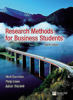 research methods for business students 4th edition Research methods for business students has 164 ratings and 18 reviews using real-life case studies and written with a student-centered approach, this ne.
