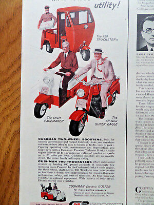 1959 Cushman Ad 780 Truckster Pacemaker & Super Eagle Motor Scooters